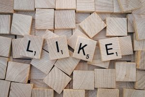 social media likes letters perth
