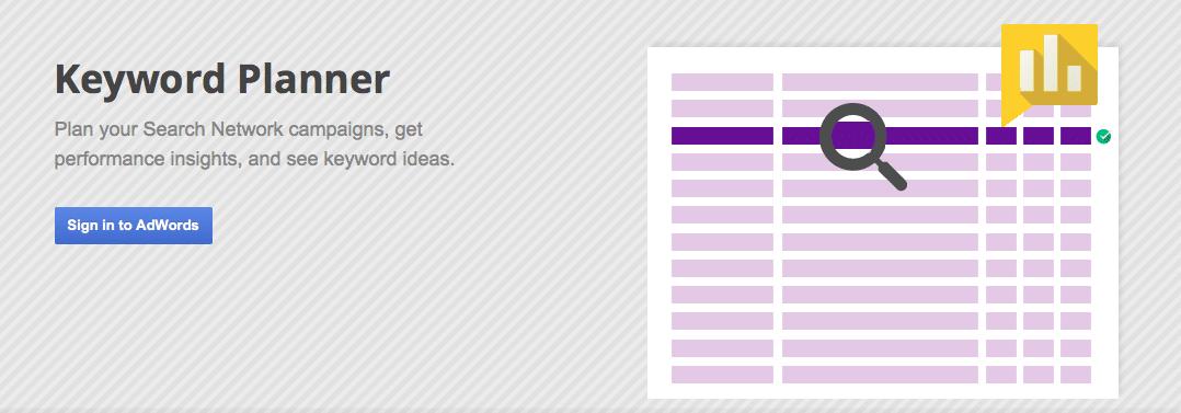 how to find keywords keyword planner