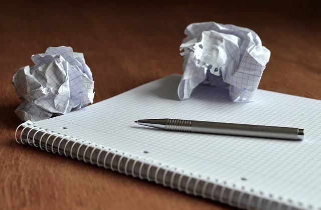 notebook crumpled paper blog ideas Perth business