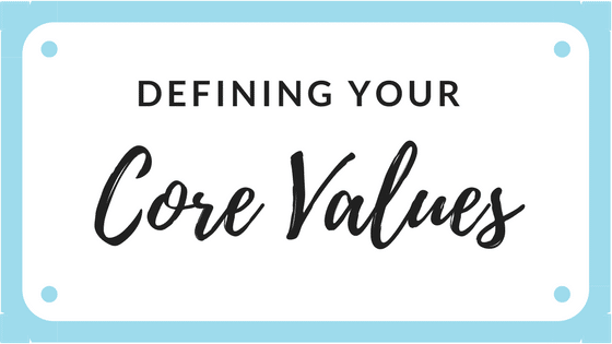 core values content writing for websites