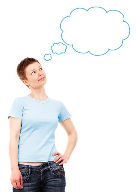 business woman idea bubble blogging Perth
